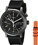 Timex Metropolitan Activity Tracker Smart Watch Black + Orange Strap