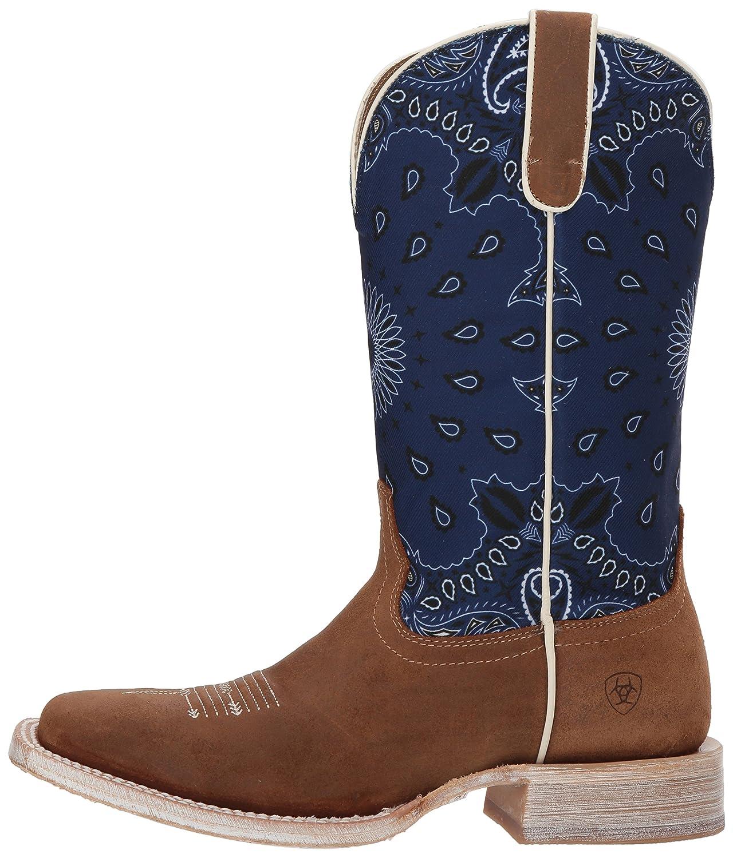 Ariat Women's Circuit Savanna Western Boot B076MDYMX3 6.5 B(M) US|Taurus Tan/Blue Paisley Print
