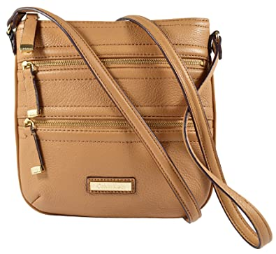 017a1e83a306 Image Unavailable. Image not available for. Color: Calvin Klein Xbody  Crossbody Leather Camel Shoulder Bag