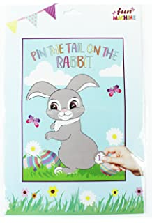 Pin the Tail on the Easter Bunny Pin the tail on the donkey style game
