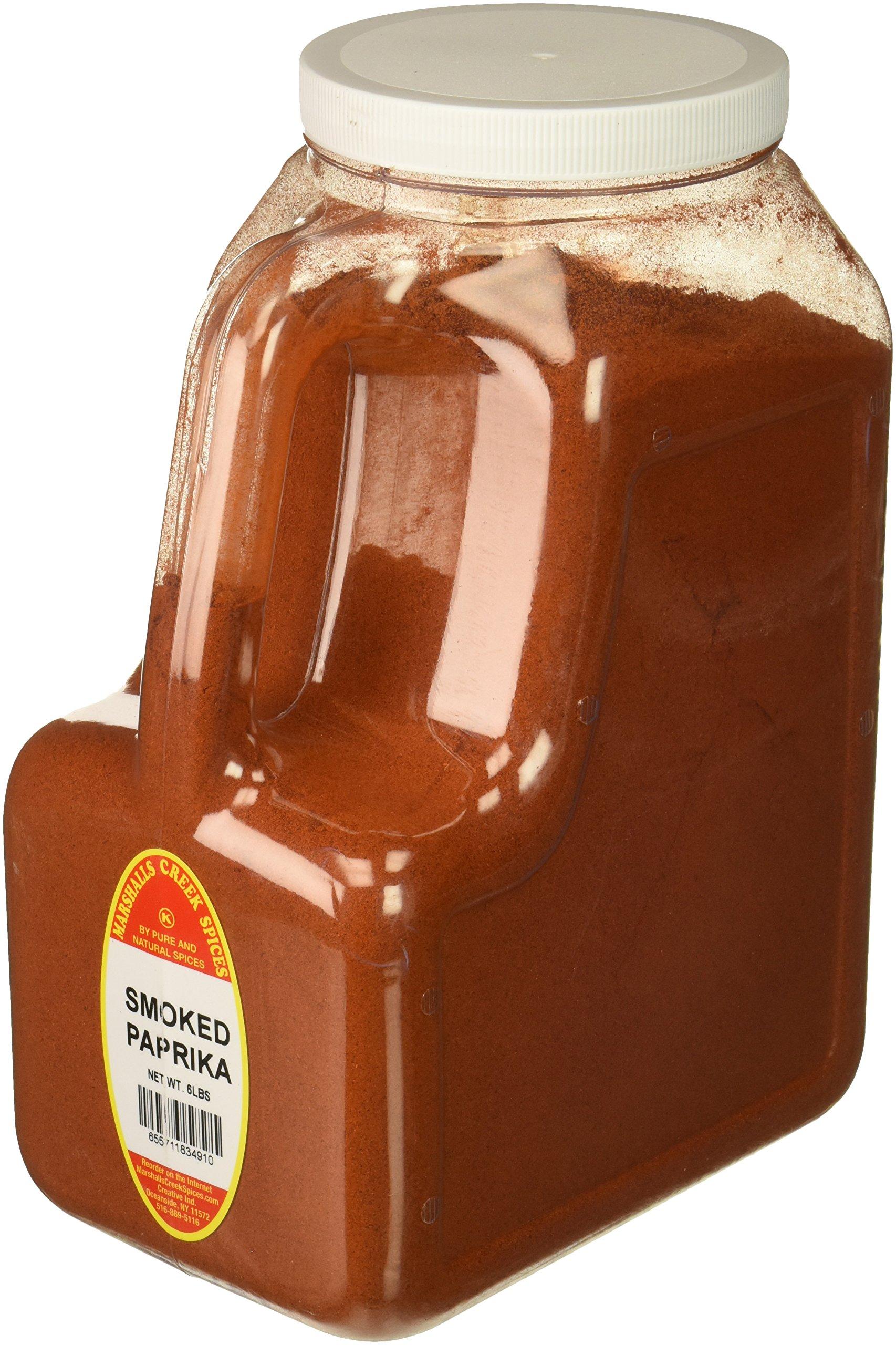 Marshalls Creek Spices SMOKED PAPRIKA 6 LB RESTAURANT SIZE JUG, 6 Pound
