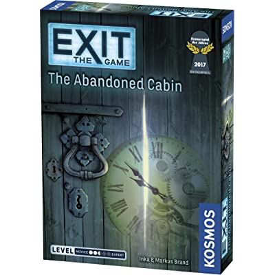 Exit: The Abandoned Cabin | Exit: The Game - A Kosmos Game | Kennerspiel Des Jahres Winner | Family-Friendly, Card-Based at-Home Escape Room Experience for 1 to 4 Players, Ages 12+: Toys & Games
