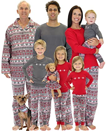 SleepytimePjs Christmas Nordic Family Matching Pyjamas: Amazon.co ...