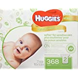Huggies Natural Care Wipes, Fragrance Free, 368 Count