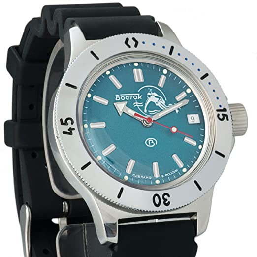 Vostok ruso reloj de anfibios WR 200 M Anfibios Diver Scuba Dude # 120059: Amazon.es: Relojes