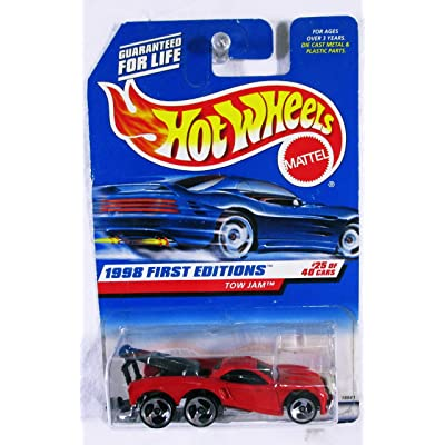 Hot Wheels - 1998 First Editions - Tow Jam - Red - #25 of 40 - Collector #658 - Limited Edition - Collectible: Toys & Games