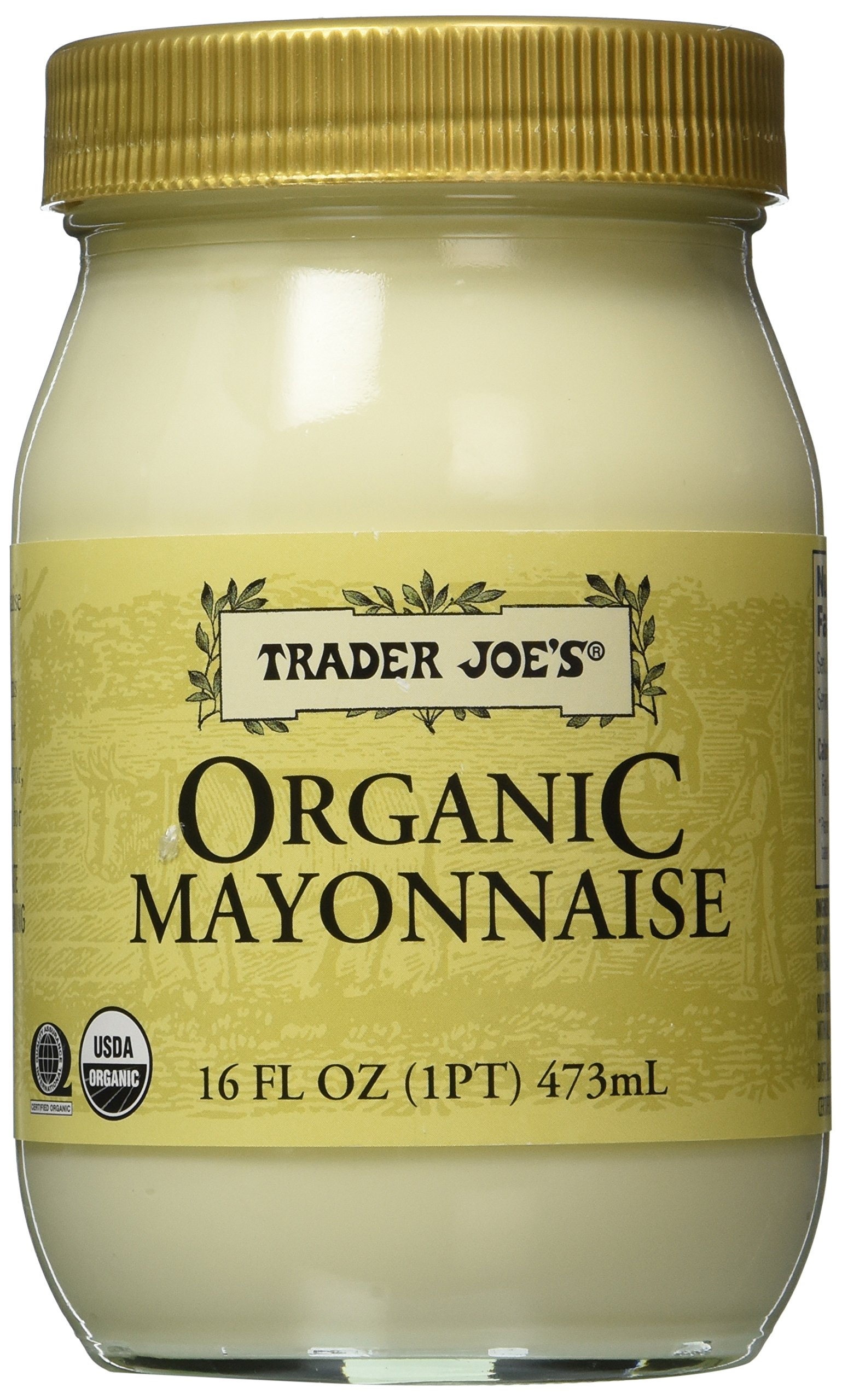 Trader Joes Organic Mayonnaise 1 Pt