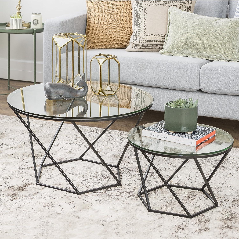 Geometric Glass Coffee Table 4