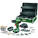 Bosch DIY Akku-Bohrschrauber PSR 14,4 LI Toolbox, 2 Akku, Ladegerät, 241 tlg. Zubehör-Set, Toolbox, Karton (14,4 V, 1,5 Ah, max. Bohr-Ø: Holz: 20 mm, Stahl: 6 mm)