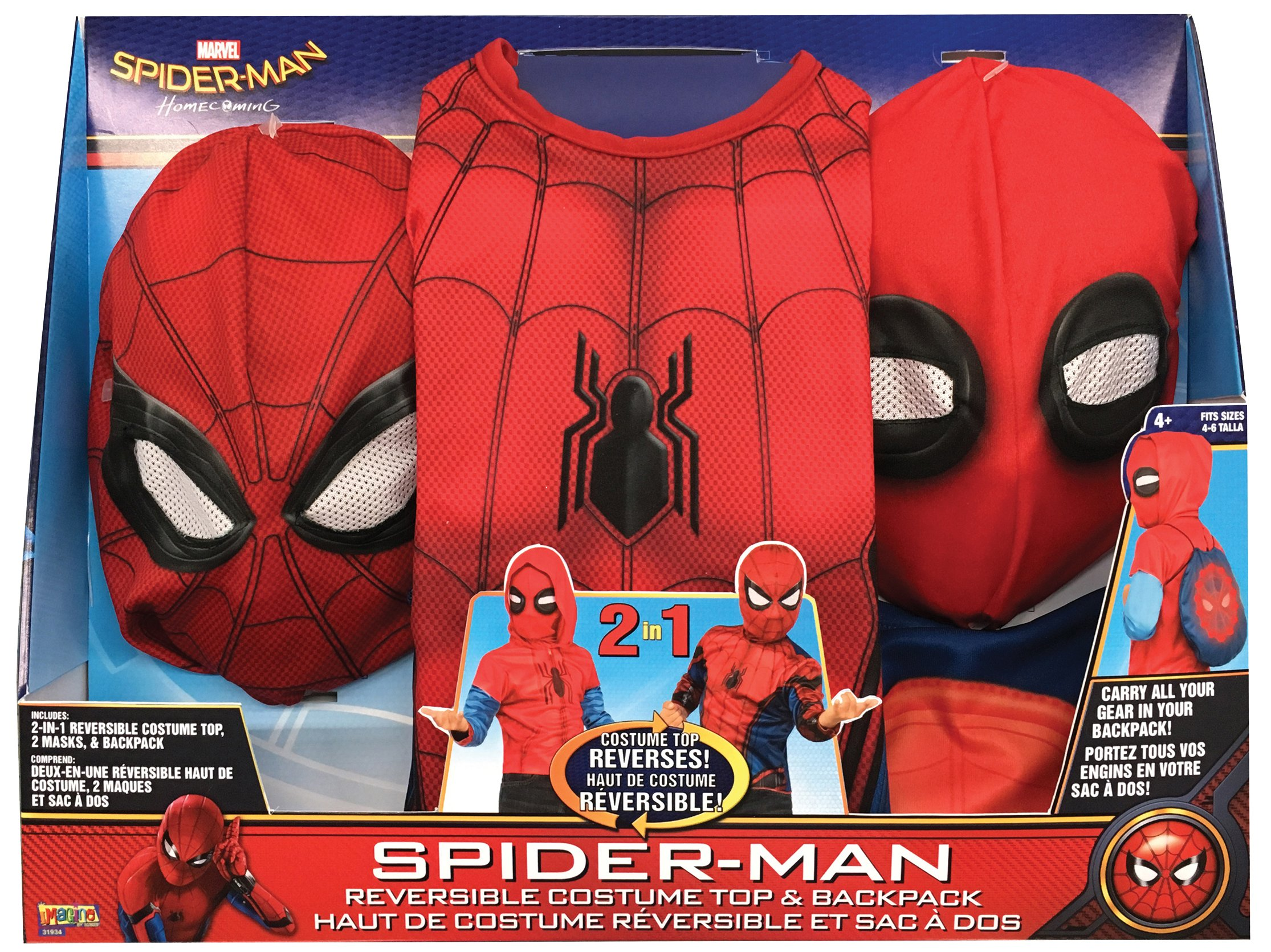 Tall Coffee Table Dress Ups Spider Man Homecoming 2 In 1 Children S