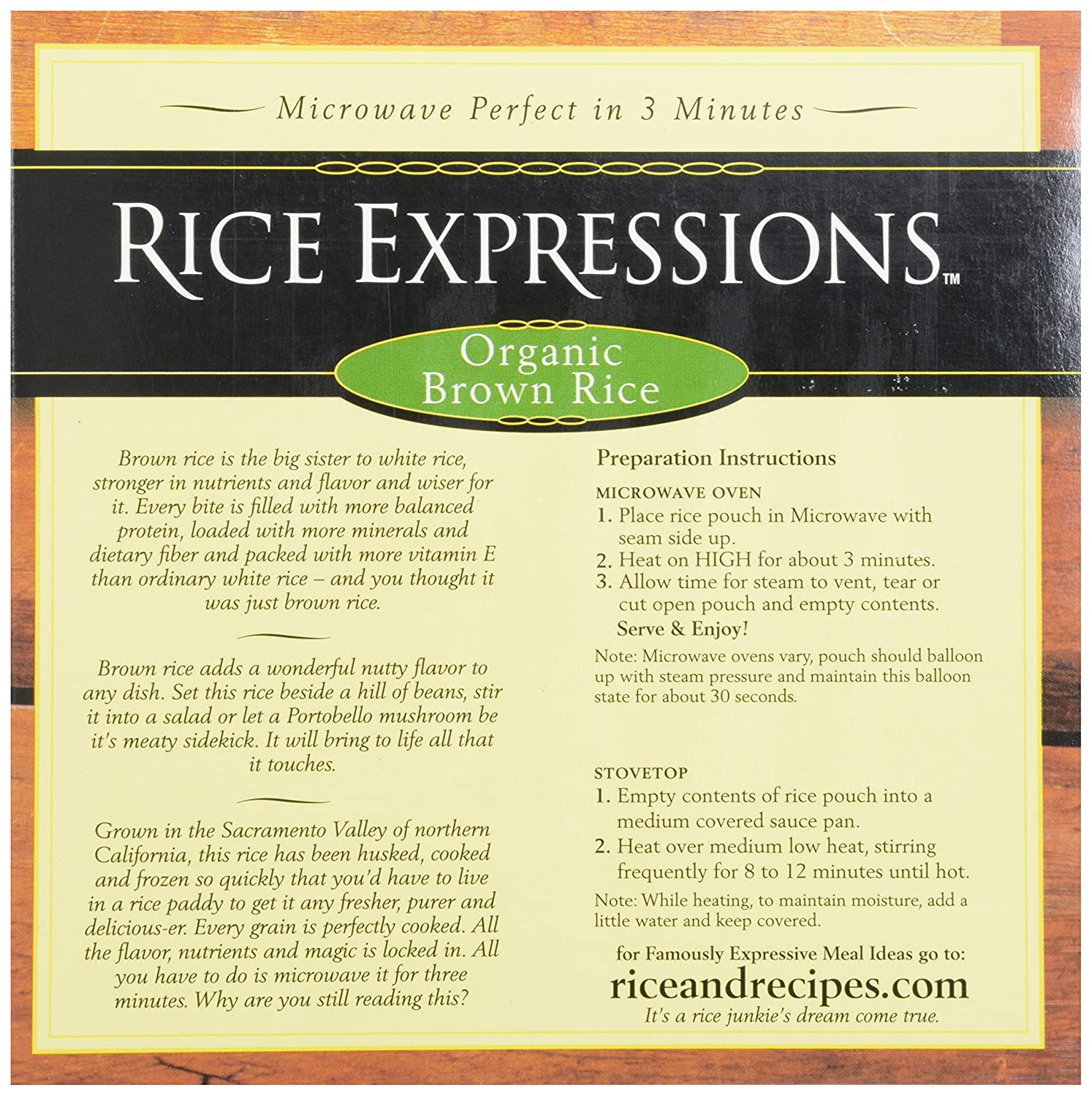 Rice Expressions Brown Rice, 100%anic, 30 Oz (frozen): Amazon:  Grocery & Gourmet Food