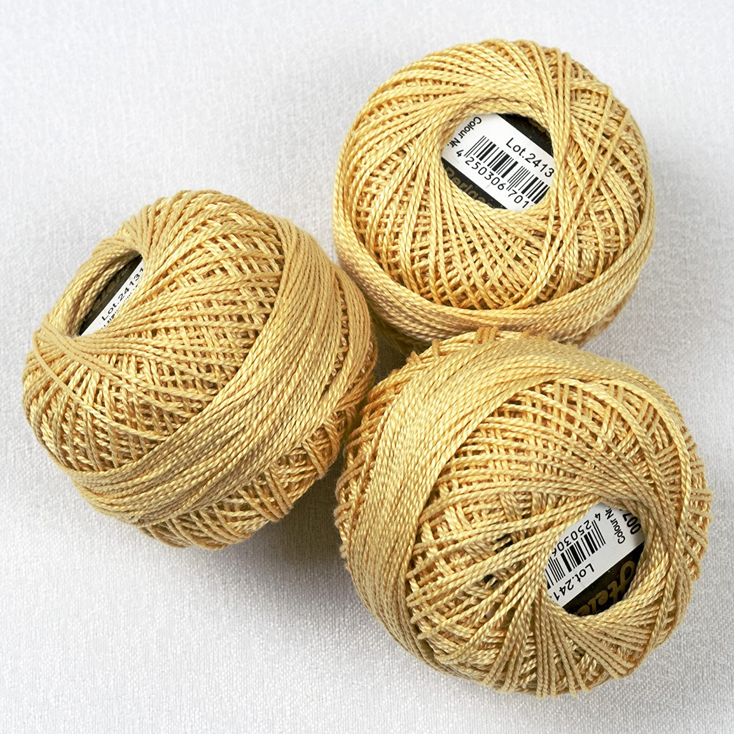 Flat Or Handl Fade-Resistant Mercerised Pearl Cotton/ /Perfect for Cross Stitch /High Quality/ Set of 3/ /100/% Cotton Embroidery Thread Stitch Cross Stitch = 3/Rolls of 10/g whether Seat/