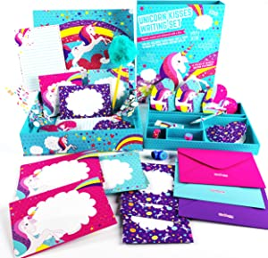 GirlZone Unicorn Letter Writing Set for Girls, 45 Piece Stationery Set, Great Birthday Gift for Girls of All Ages