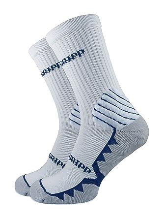 10e68c542 PREMGRIPP Premgripp Calf Socks White with Blue Trim Adult Shoe Size 7-11:  Amazon.co.uk: Clothing