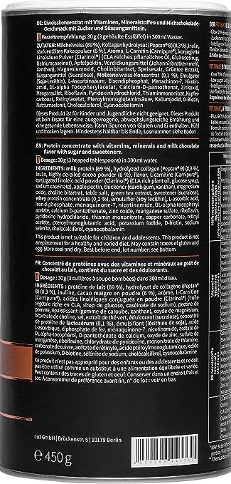 nu3 Fit Shake sabor Chocolate - 450g I 72% de proteína de leche y colágeno I Bajo en azúcar y grasa I Solo 110 kcal por porción I 10% de fibra + ...