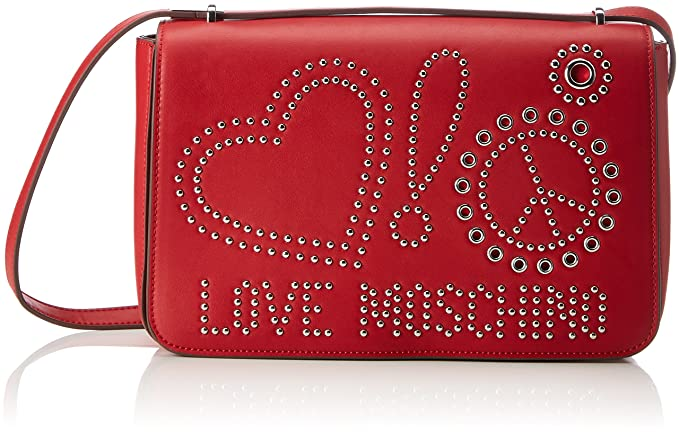 Love Moschino Borsa Calf Pu Rosso, Women's Shoulder Bag, Red, 6x17x29 cm (