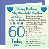 60th Birthday Wishes To A Wonderful Brother Lake Design