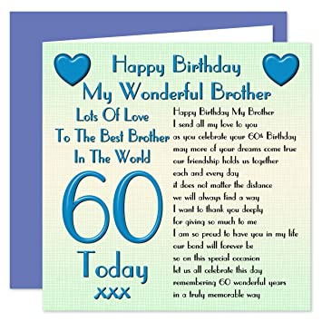 Brother 60th Happy Birthday Card