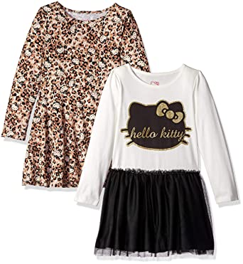 a775d2dfe Amazon.com: Hello Kitty Girls' 2 Pack Embellished Tutu Dresses: Clothing
