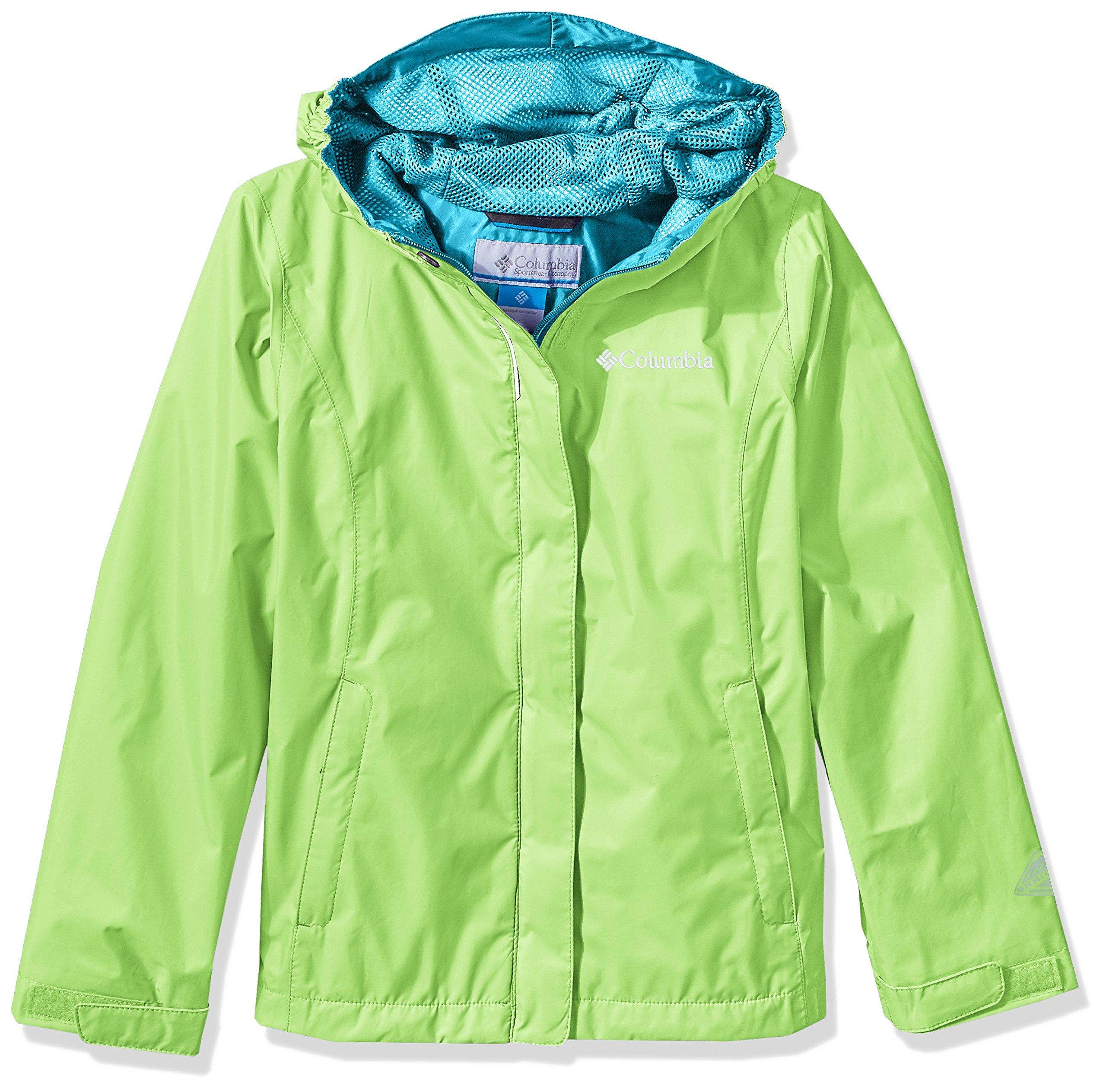 Columbia Little Girls' Arcadia Jacket, Jade Lime, XS