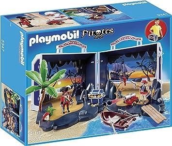 PLAYMOBIL Piratas - Cofre del Tesoro, playset (5347): Amazon.es: Juguetes y juegos