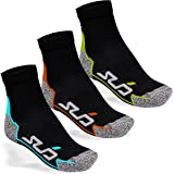 Sub Sports Unisex Running Ankle Socks 3 Pair Pack Moisture Wicking Seamfree Toe - Dual Range