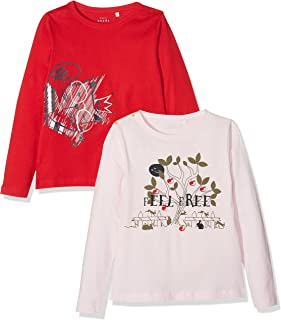 NAME IT Mädchen T-Shirt, 2er Pack