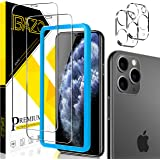 [2+2 Pack] BAZO Compatible with iPhone 11 Pro (5.8 inch) Screen Protector and Tempered Glass Camera Lens Protector [Easy Inst