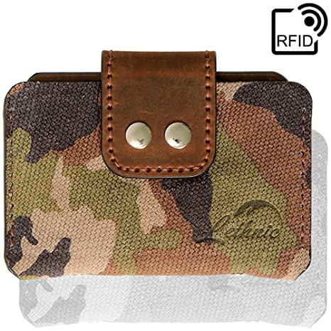 Boys Men Army Camouflage Wallet Size Approx.13cmX9cm Zip Compartment Card Holder