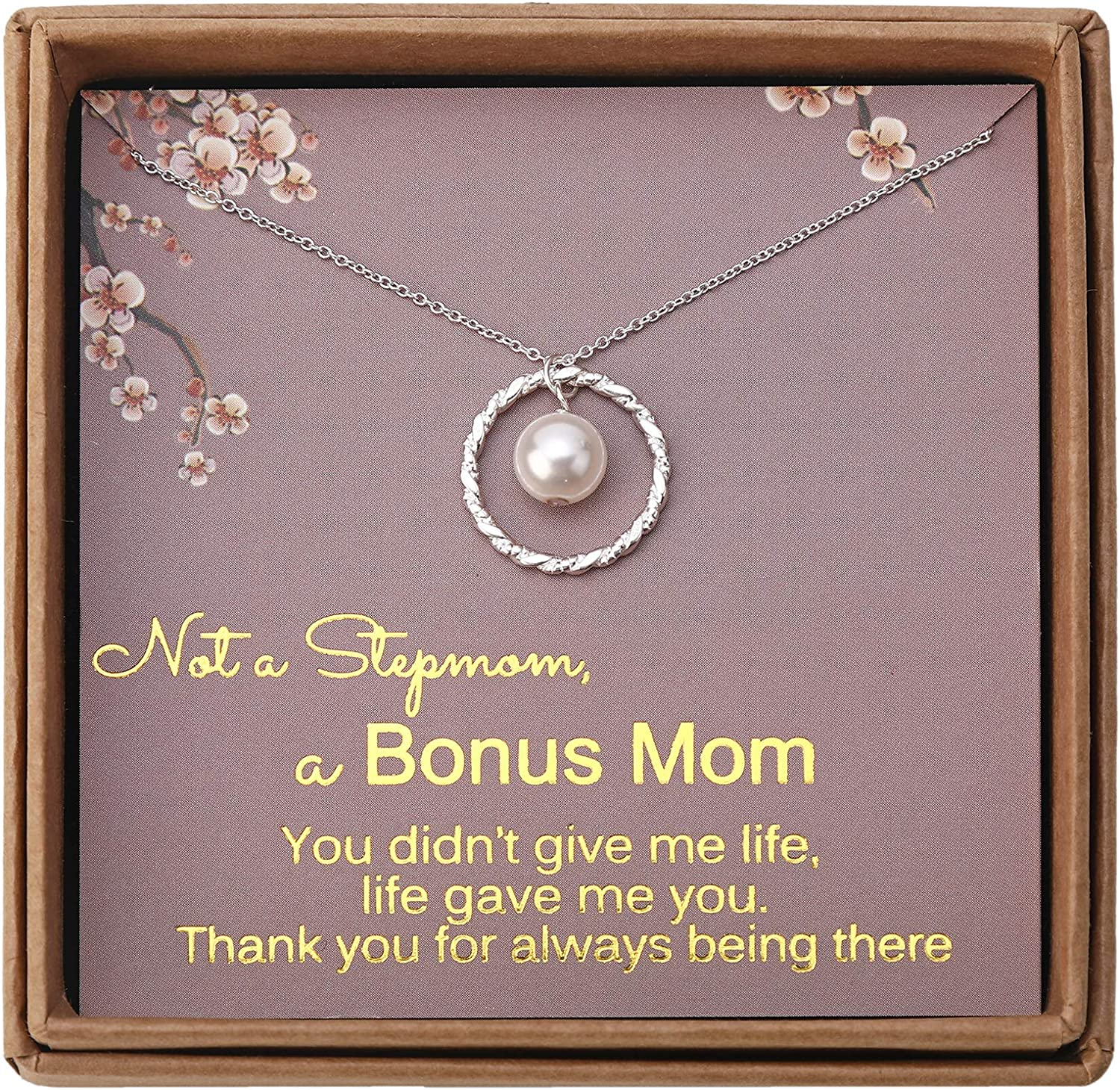 Hand Stamped Mother/'s Day Gift Personalized Birthstone Mother/'s Necklace by Everything Pretty Gift for Step Mom Foster Mom Grandma