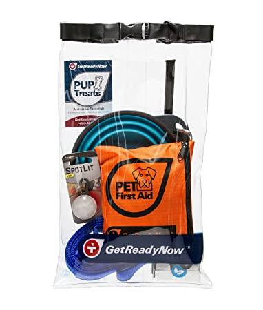 GETREADYNOW Pups Peeps Emergency Survival Kits – Essential First Aid Deluxe Supplies to Keep Your Four-Legged Friend Safe While on The Road, Camping, Hiking, or Unexpected Dog Park Emergencies