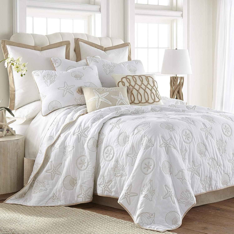 Levtex Home Cantabrico King Quilt, Cotton, White, Coastal