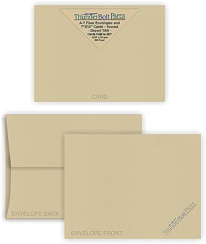 Amazon Com 5x7 Blank Cards With A 7 Envelopes Desert Tan Fiber