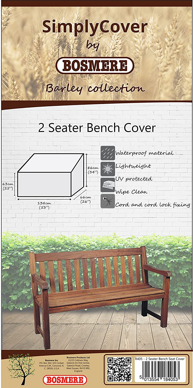 Bosmere Q405 Simply CoverBlackberry (Black) 2 Seater Bench Cover BOSMERE PRODUCTS LIMITED