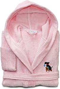 Linum Home Textiles LKDS65-S-DOG Linum Kids Hooded Terry Robe Christmas Dog