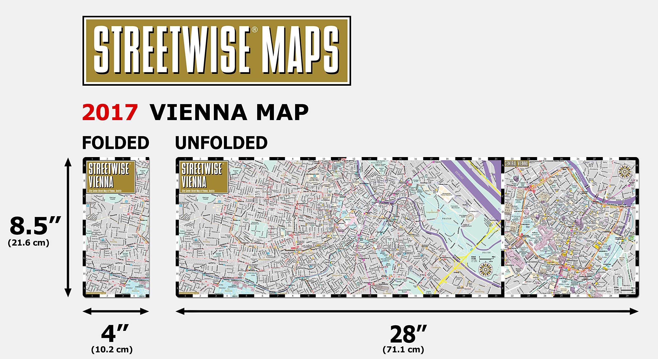 Streetwise Vienna Map City Center Street Map of Vienna Austria
