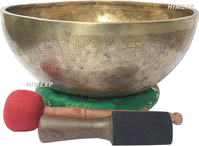 decorative bowls home decor.htm amazon com inside kuber carved tibetan himalayan singing bowls  amazon com inside kuber carved tibetan