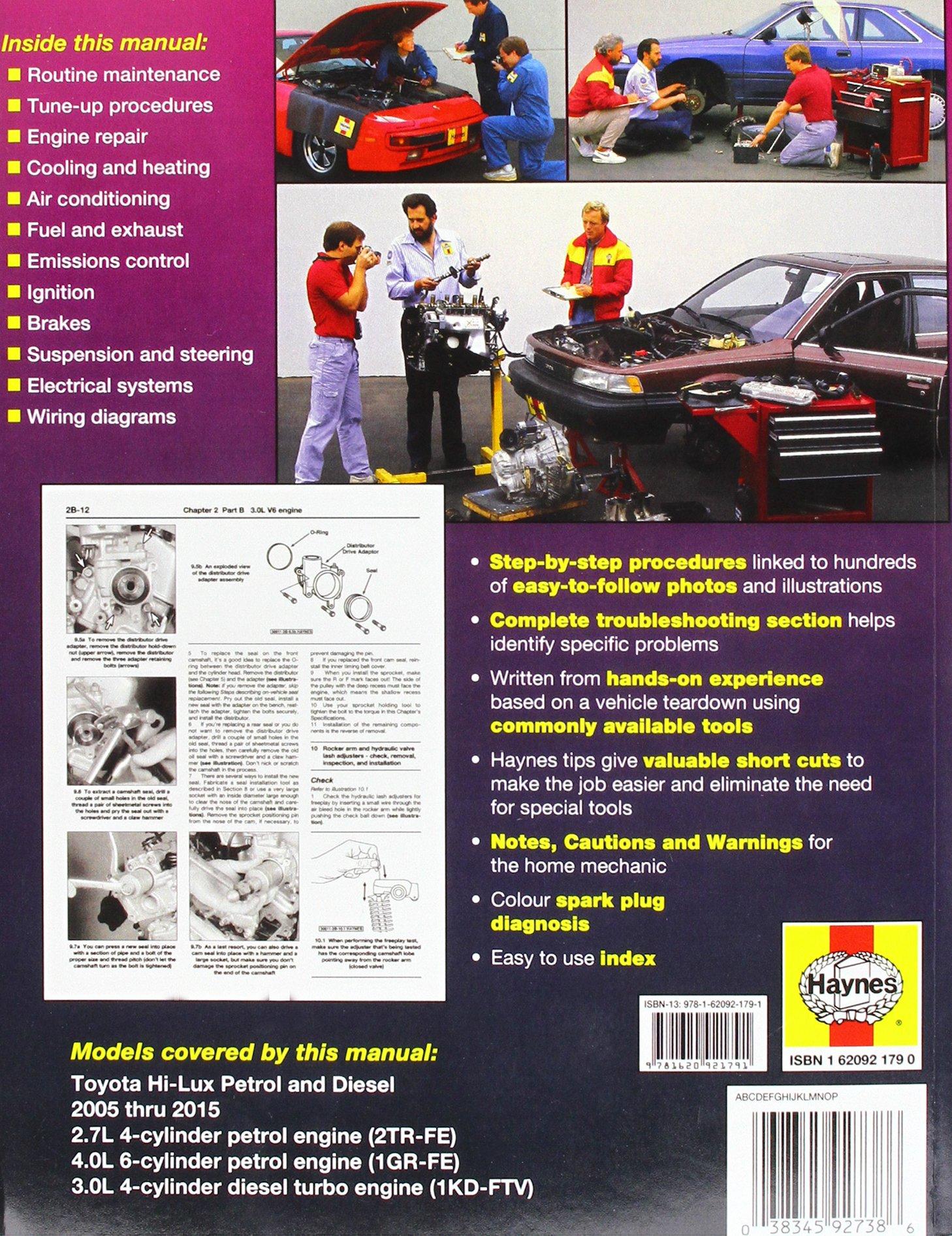 Toyota Hilux 4x4 Aus 2005 2015 Haynes Publishing Fremdsprachige Bücher