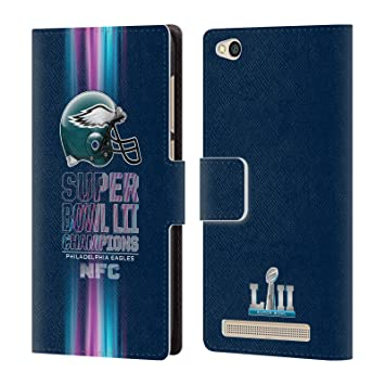 Officiel NFL Philadelphia Eagles 1 2018 Super Bowl LII Champions Étui Coque  De Livre en Cuir 9f54488f2