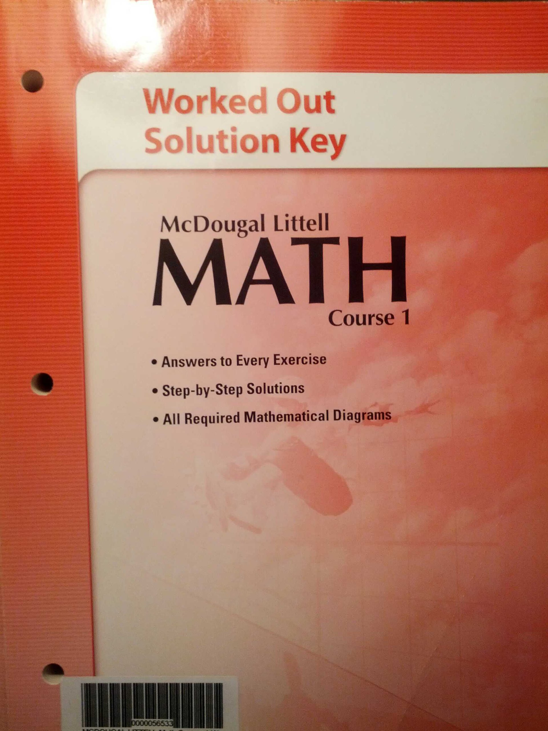 Download McDougal Littell Math Course 1: Worked-Out Solution Key PDF