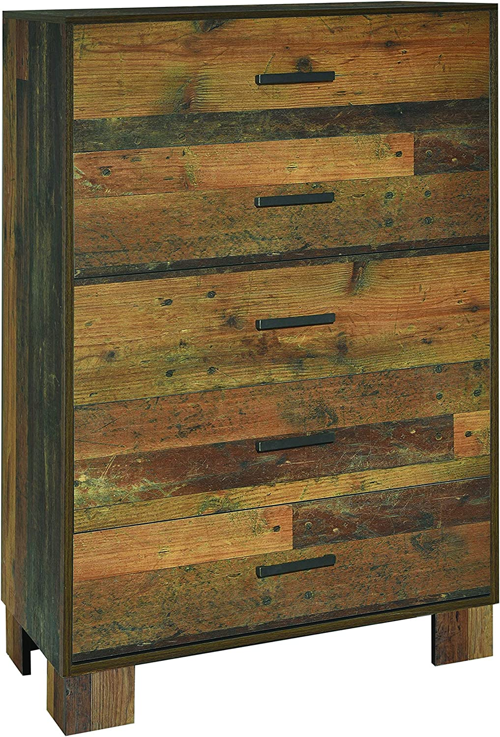 Coaster Home Furnishings Sidney 5-Drawer Rustic Pine Chest