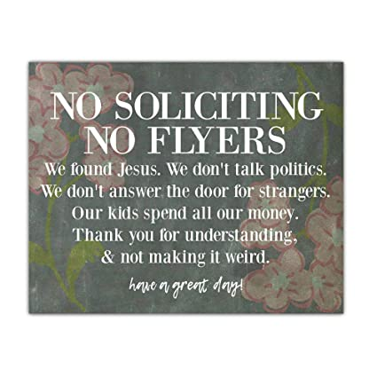 Amazon Inspire Your Art Message Magnet No Soliciting Do Not