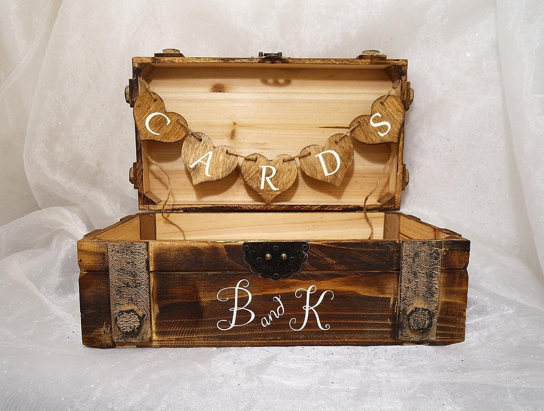 Card Box Wedding.Amazon Com Personalized Vintage Wooden Card Box Rustic Vintage