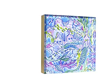 lilly pulitzer gold acrylic picture frame