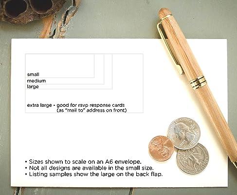 Self-Inking Return Address Stamp, Calligraphy Pre-Inked Custom Rubber Stamp, White Address Stamp
