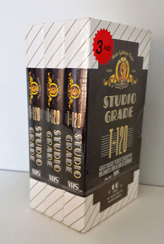 MGM Studio Grade T-120 High Grade Video Cassette Pack of 3