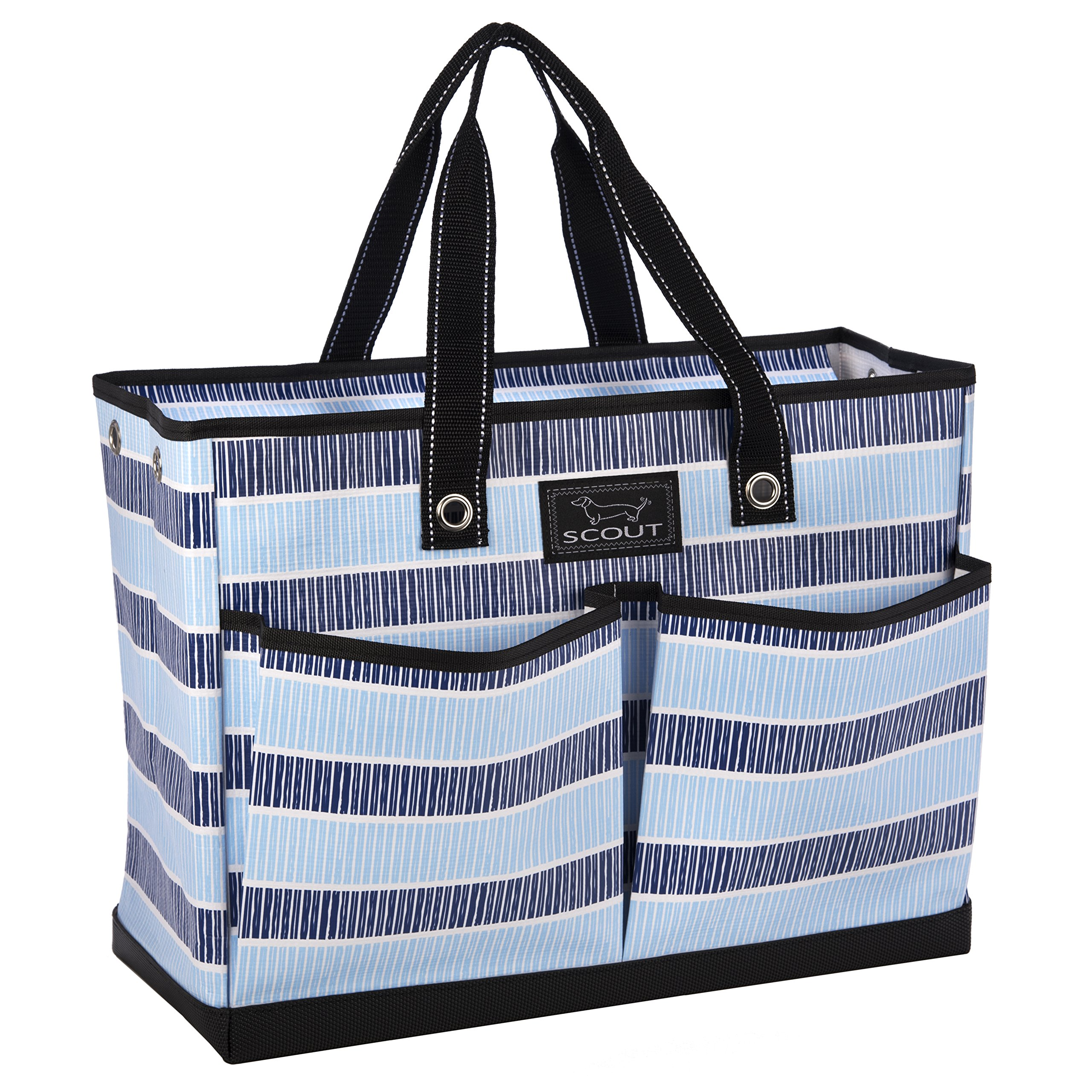 SCOUT BJ Bag, Large Multi Pocket Utility Tote for Beach and Pool, Reinforced Bottom, Water Resistant, Zips Closed, Deep End