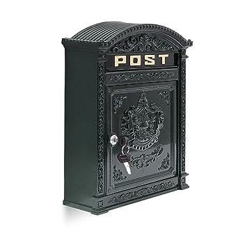 Relaxdays Briefkasten Antik Englischer Wandbriefkasten Aus Aluguss