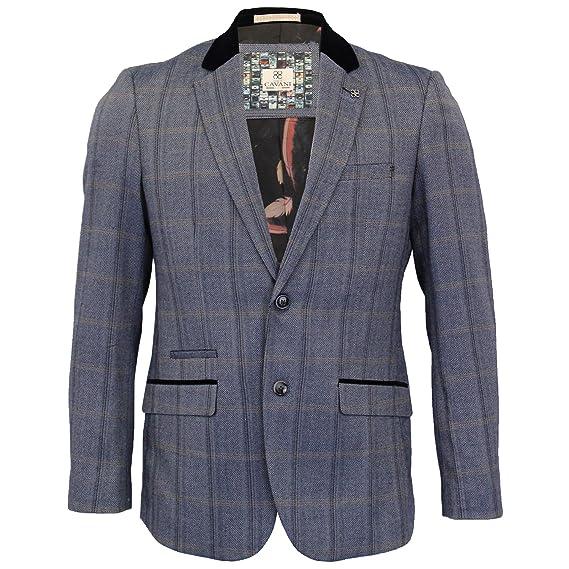 57b1eda7f8d8 Cavani Mens Tweed 3 Piece Suit Blazer Waistcoat Trousers Checked ...