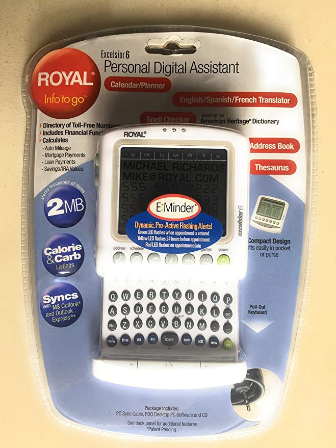 Amazon com: ROYAL INFO TO GO EXCELSIOR 6 PDA: Electronics